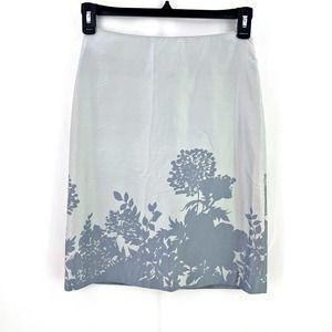 Banana Republic 100% Shadow Floral Pencil Skirt